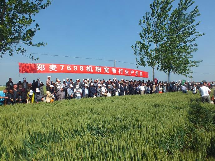 郭鹏亮书记出席小麦新品种郑麦7698驻马店现